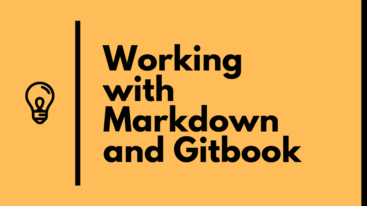working with markdown and gitbook
